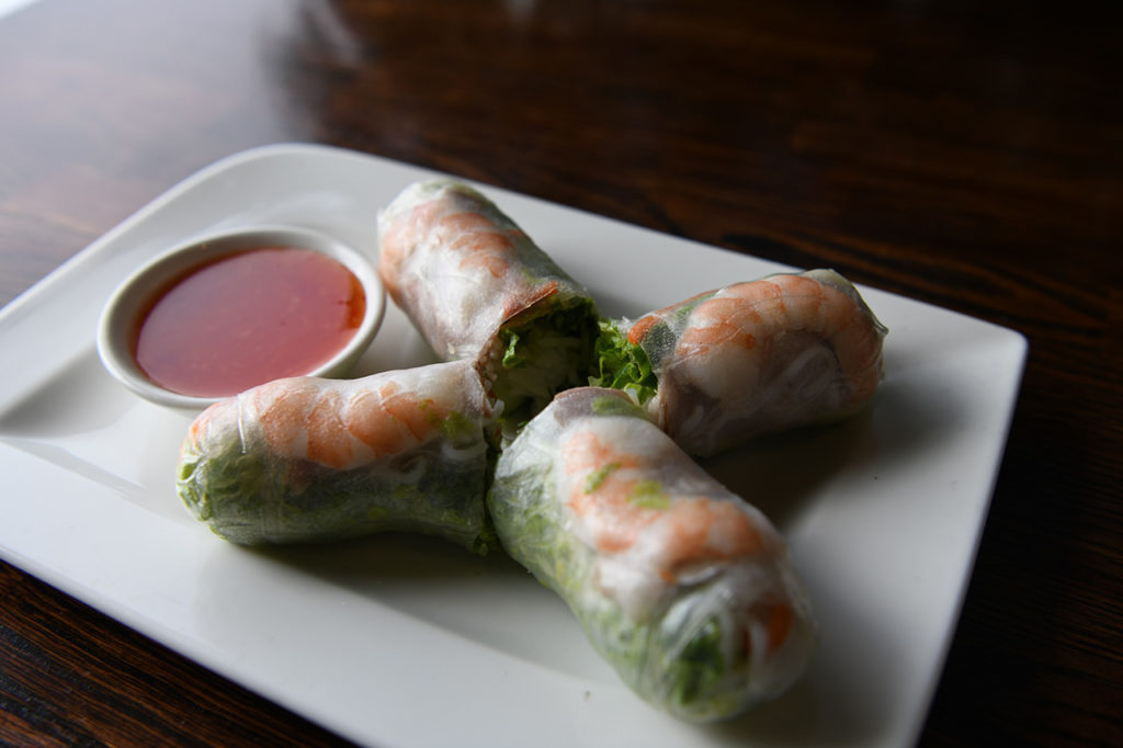 Vietvana spring rolls with shrimp
